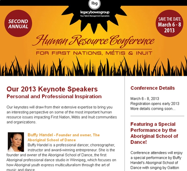 Legacy Bowes Group Human Resource Conference email newsletter designed by 6P Marketing