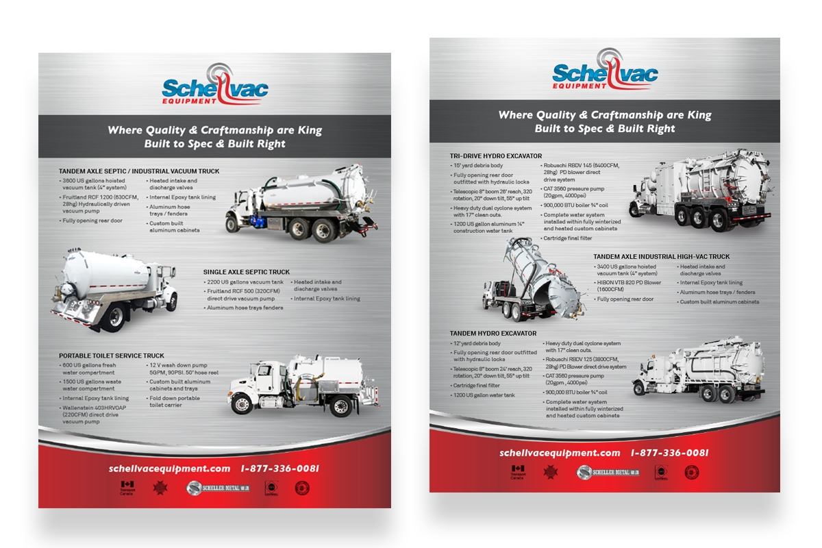 Brochure designed by 6P Marketing for Shellvac