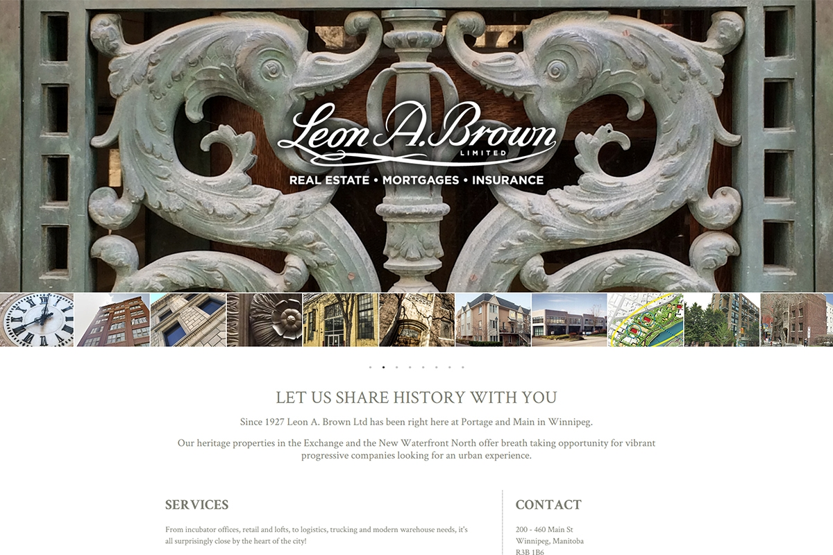 Leon Brown website designed by 6P Marketing