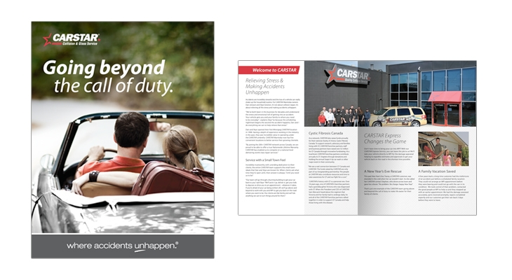 Brochure designed by 6P Marketing for Carstar