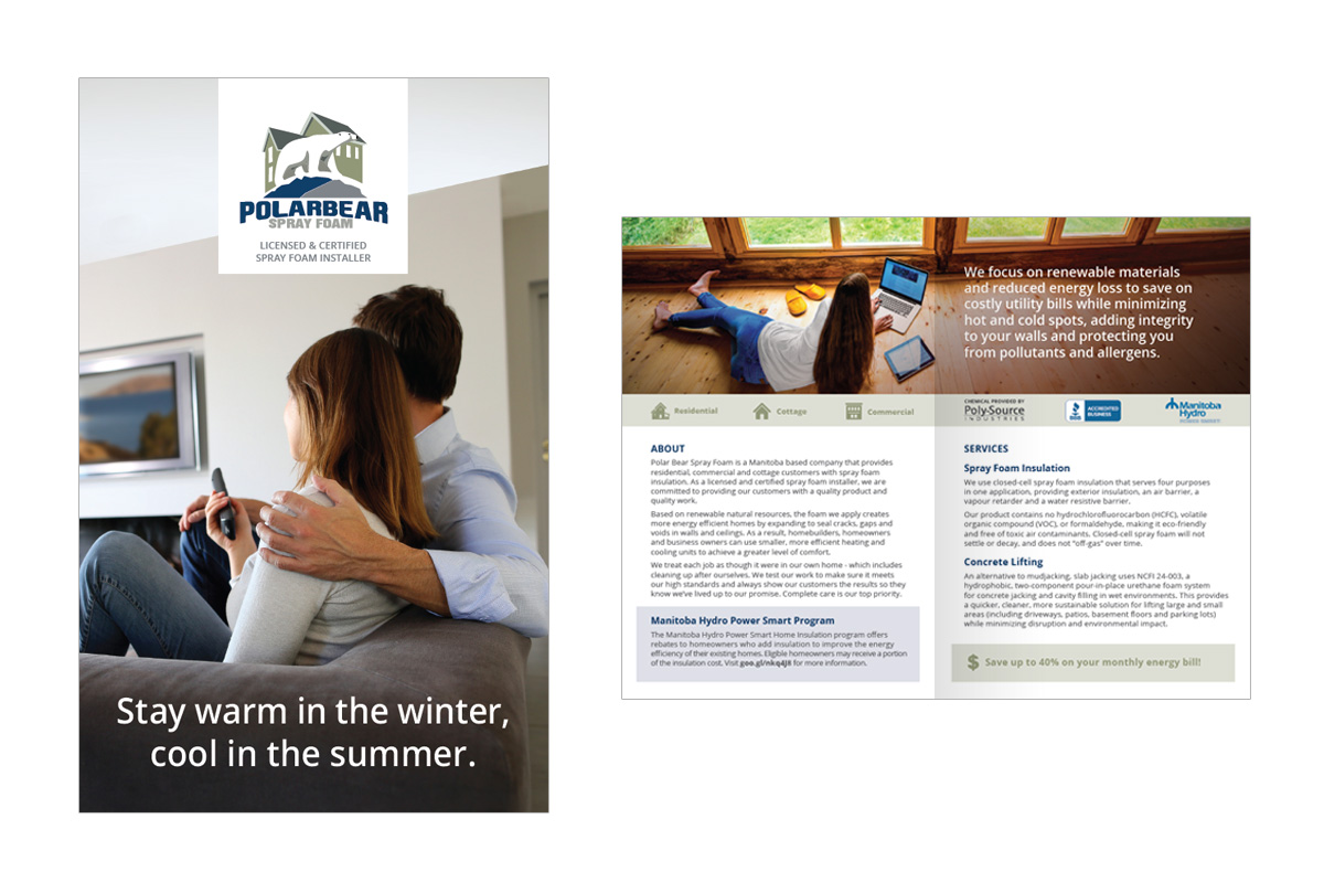 Brochure designed by 6P Marketing for Polar Spray Foam