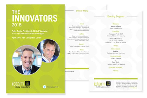 Program designed by 6P Marketing for Innovators event