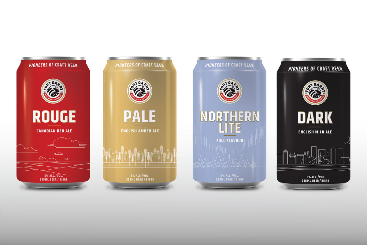 Packaging designed by 6P Marketing for Fort Garry Brewery