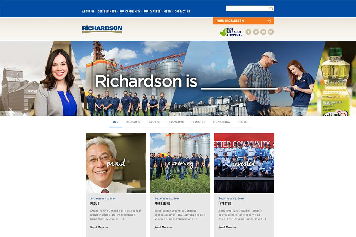 Richardson website designed by 6P Marketing