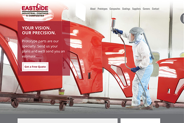 Eastside Industrial Coatings & Composites website designed by 6P Marketing