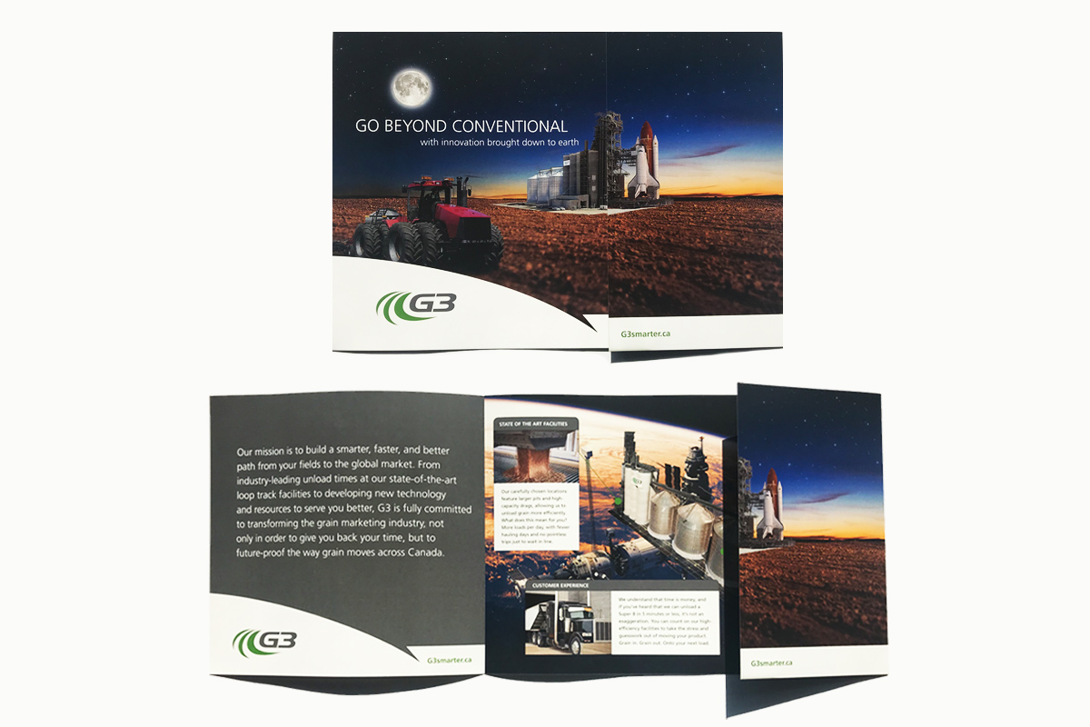 Brochure designed by 6P Marketing for G3
