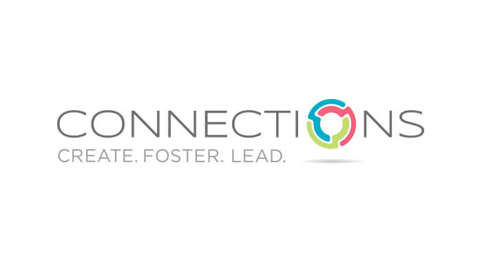 Connections logo designed by 6P Marketing