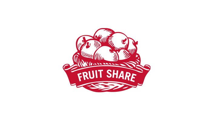 Fruit Share logo designed by 6P Marketing
