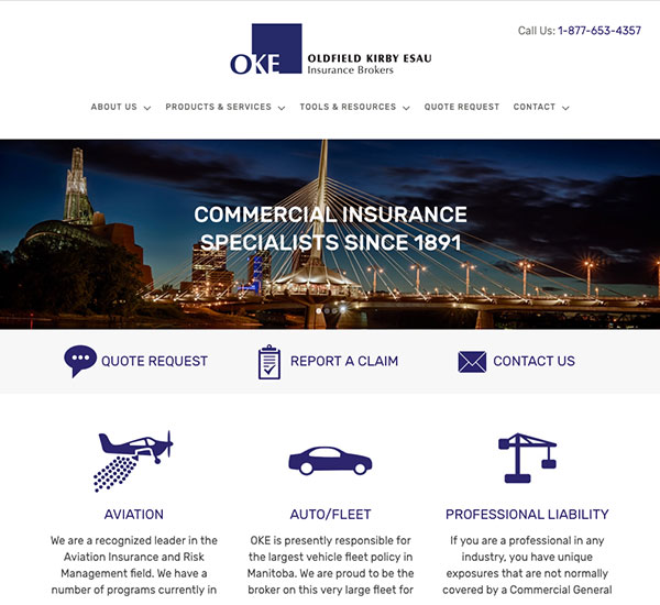 Oldfield Kirby Esau website designed by 6P Marketing