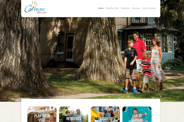 Carman website designed by 6P Marketing