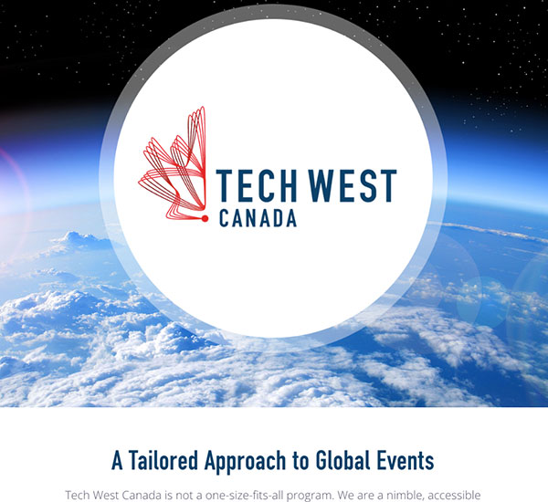 Tech West Canada website designed by 6P Marketing