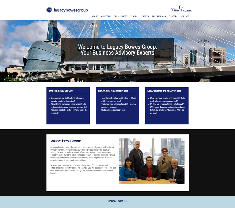 Legacy Bowes website designed by 6P Marketing