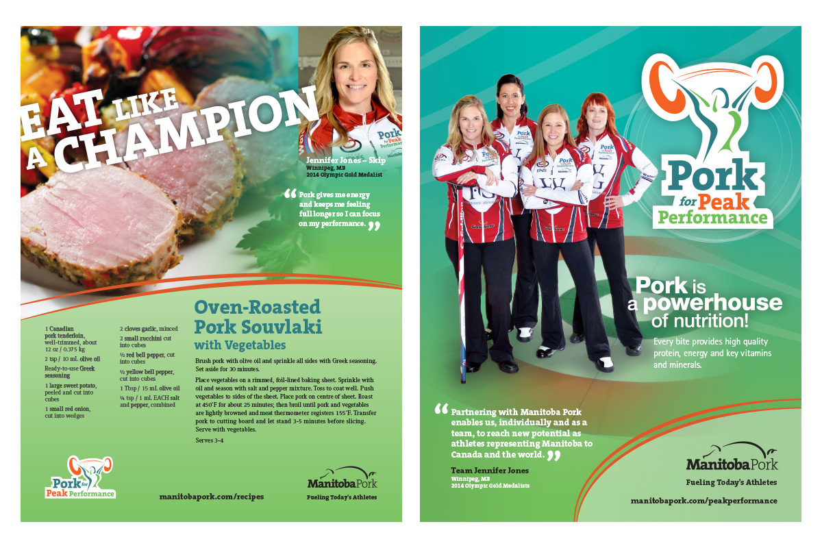 Print ad designed by 6P Marketing for Manitoba Pork