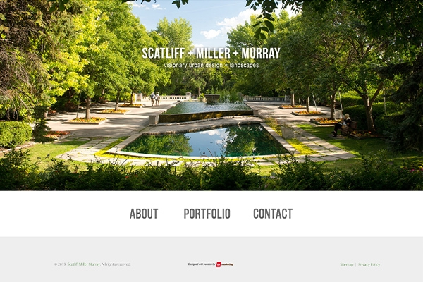 Scatliff + Miller + Murray website designed by 6P Marketing