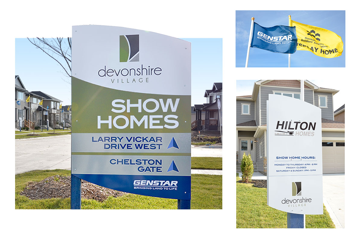 Community signage designed by 6P Marketing for Genstar Developments (Devonshire Village)
