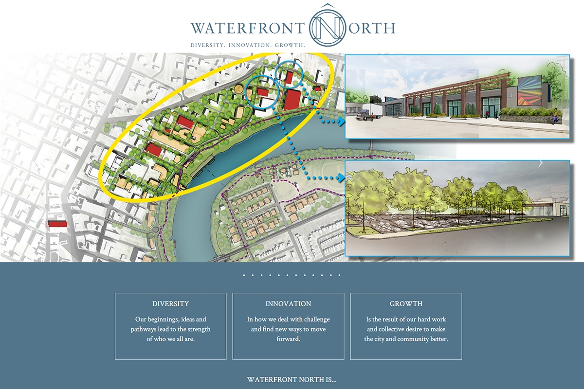 Waterfront North website designed by 6P Marketing