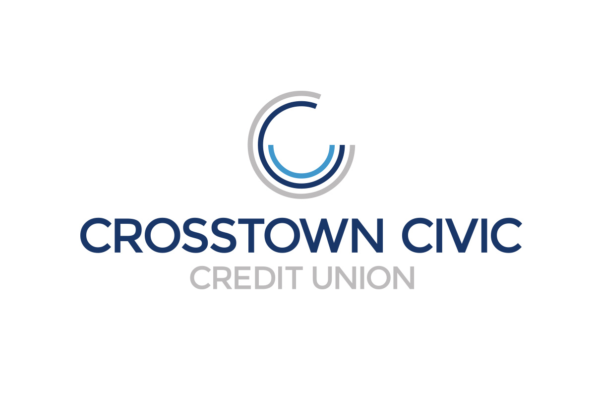 Crosstown Civic Credit Union logo designed by 6P Marketing
