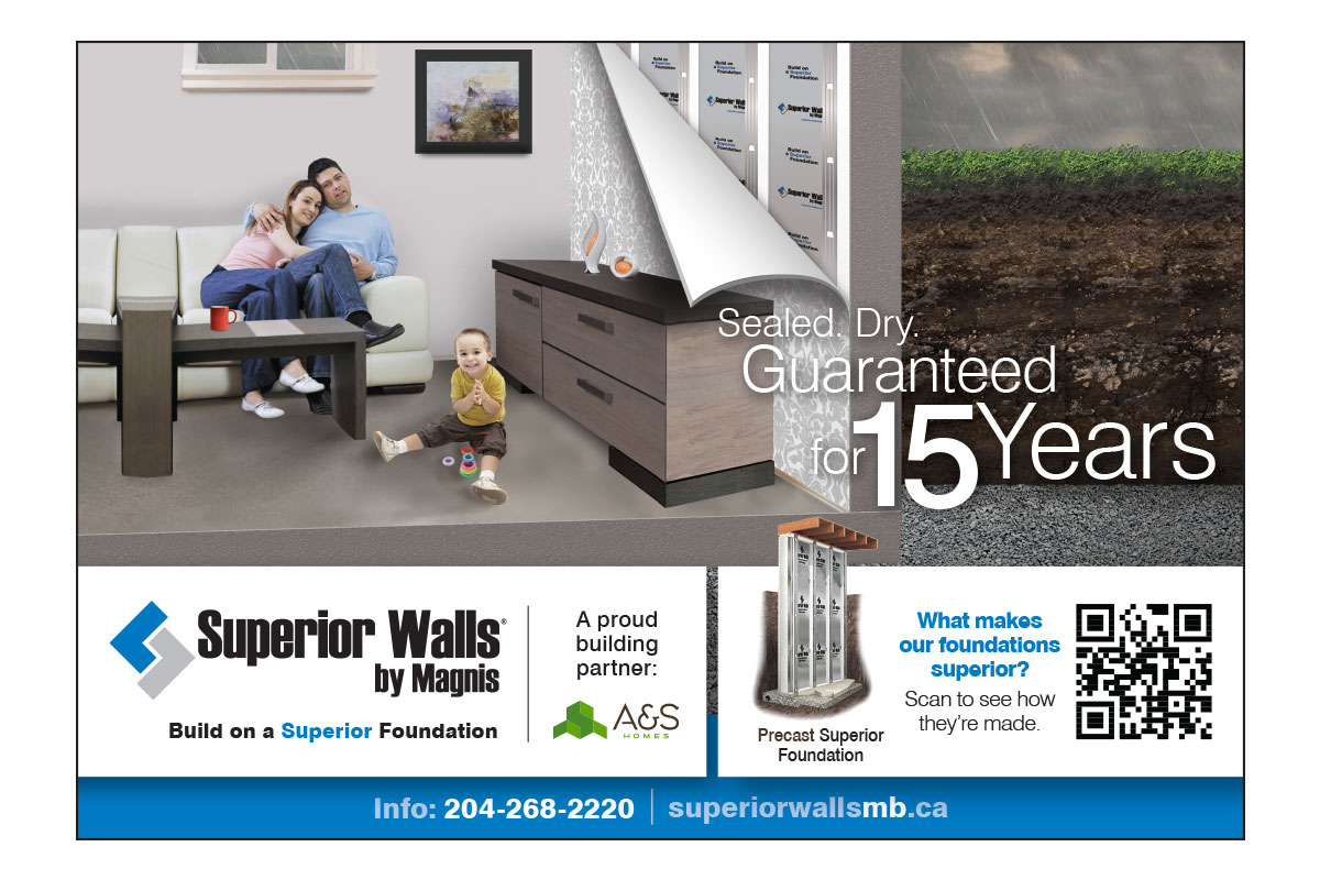 Print ad designed by 6P Marketing for Superior Walls