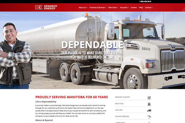 Kennedy Energy website designed by 6P Marketing