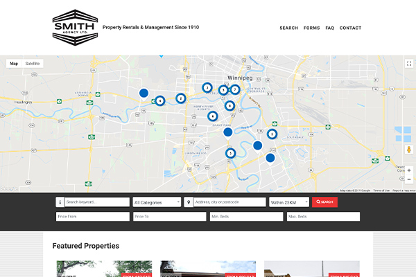Smith Agency Ltd. website designed by 6P Marketing