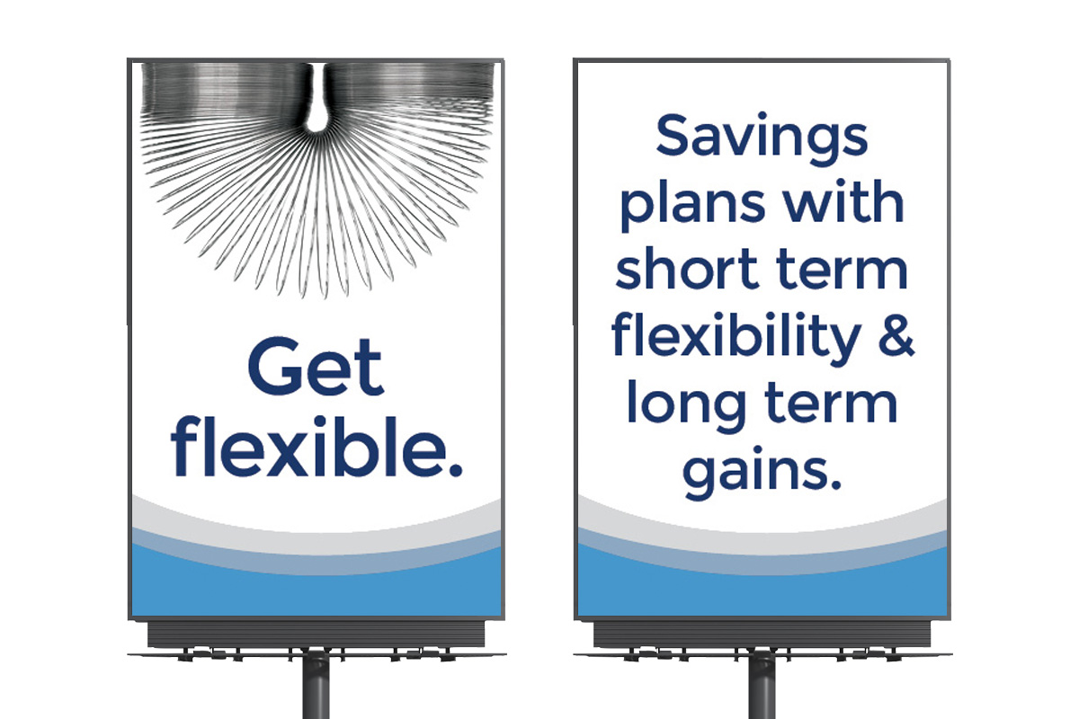 Billboards designed by 6P Marketing for Crosstown Civic Credit Union