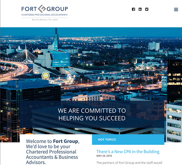 Fort Group website designed by 6P Marketing