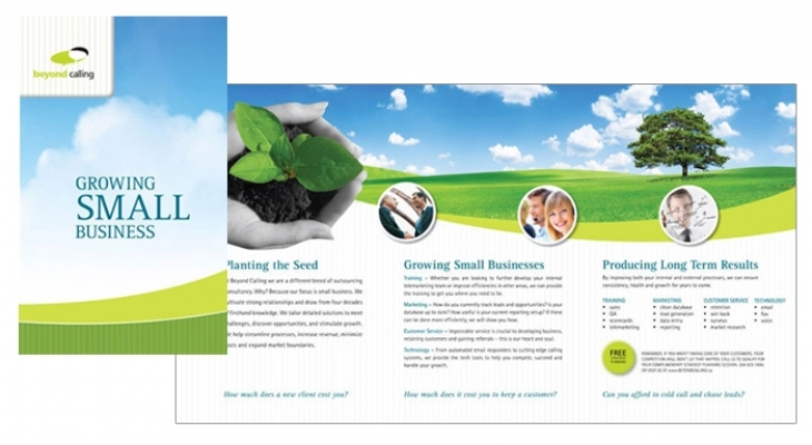 Brochure designed by 6P Marketing for Beyond Calling
