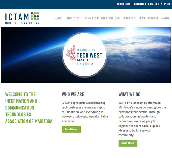 ICTAM website designed by 6P Marketing