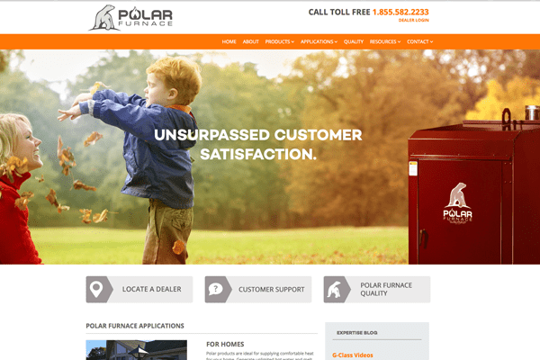 Polar Furnace website designed by 6P Marketing
