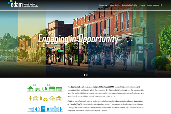 Edam website designed by 6P Marketing