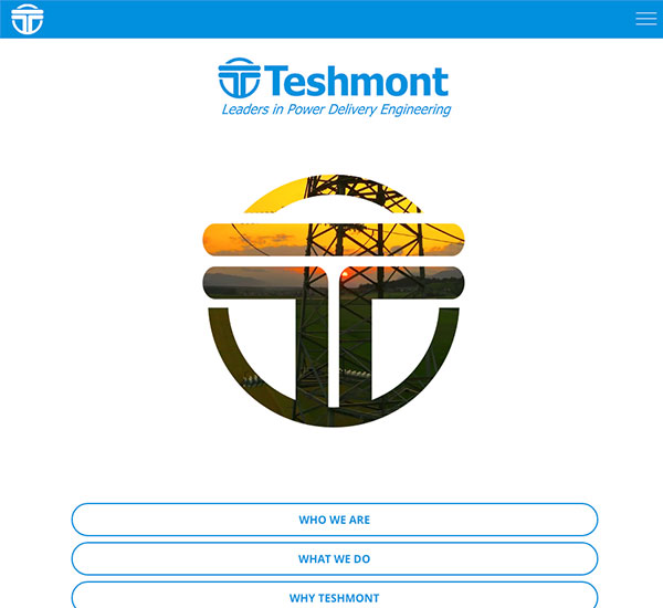 Teshmont website designed by 6P Marketing