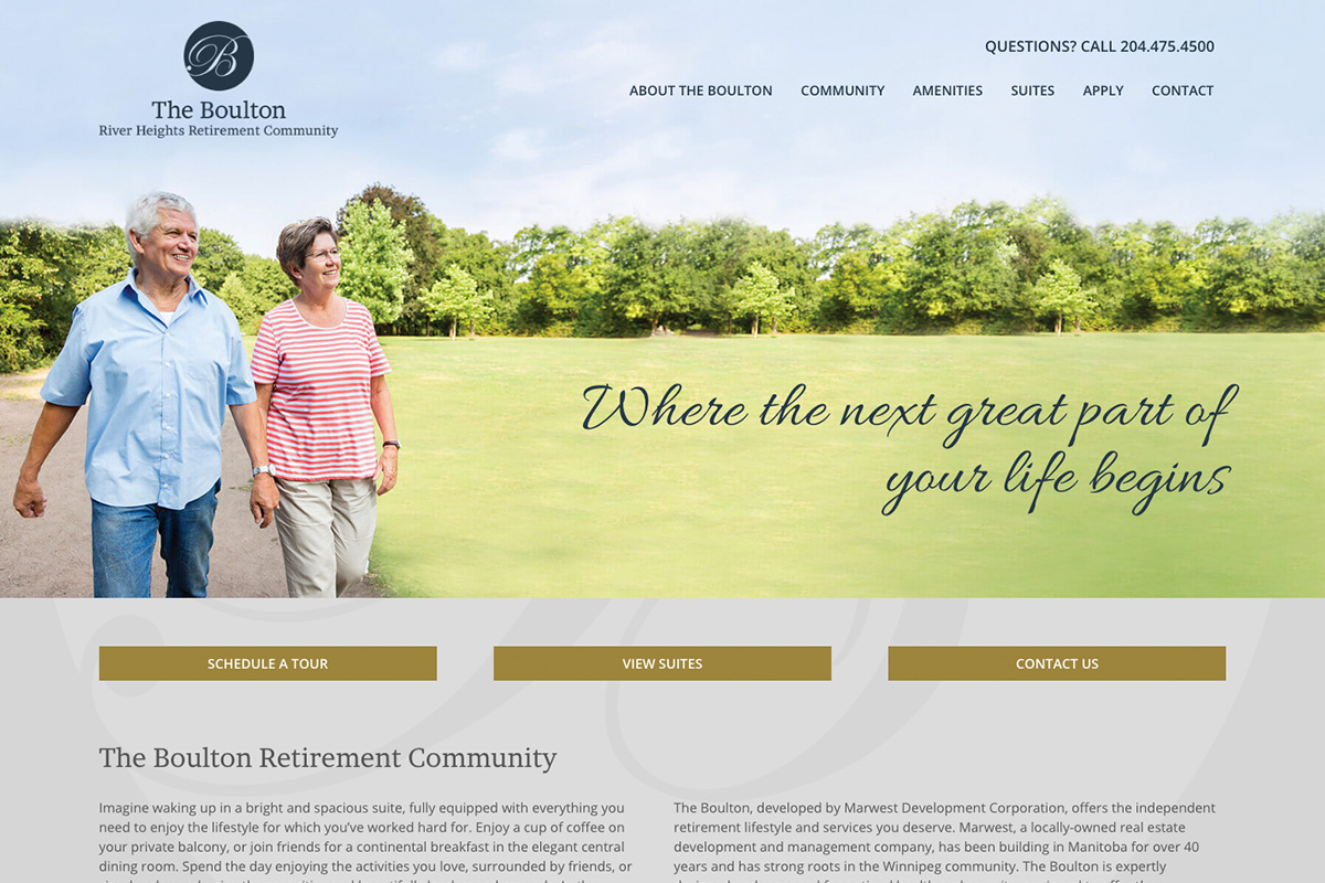The Boulton website designed by 6P Marketing