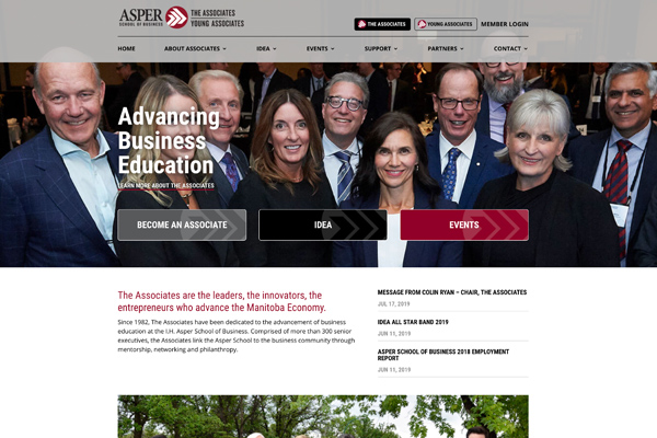 The Associates website designed by 6P Marketing