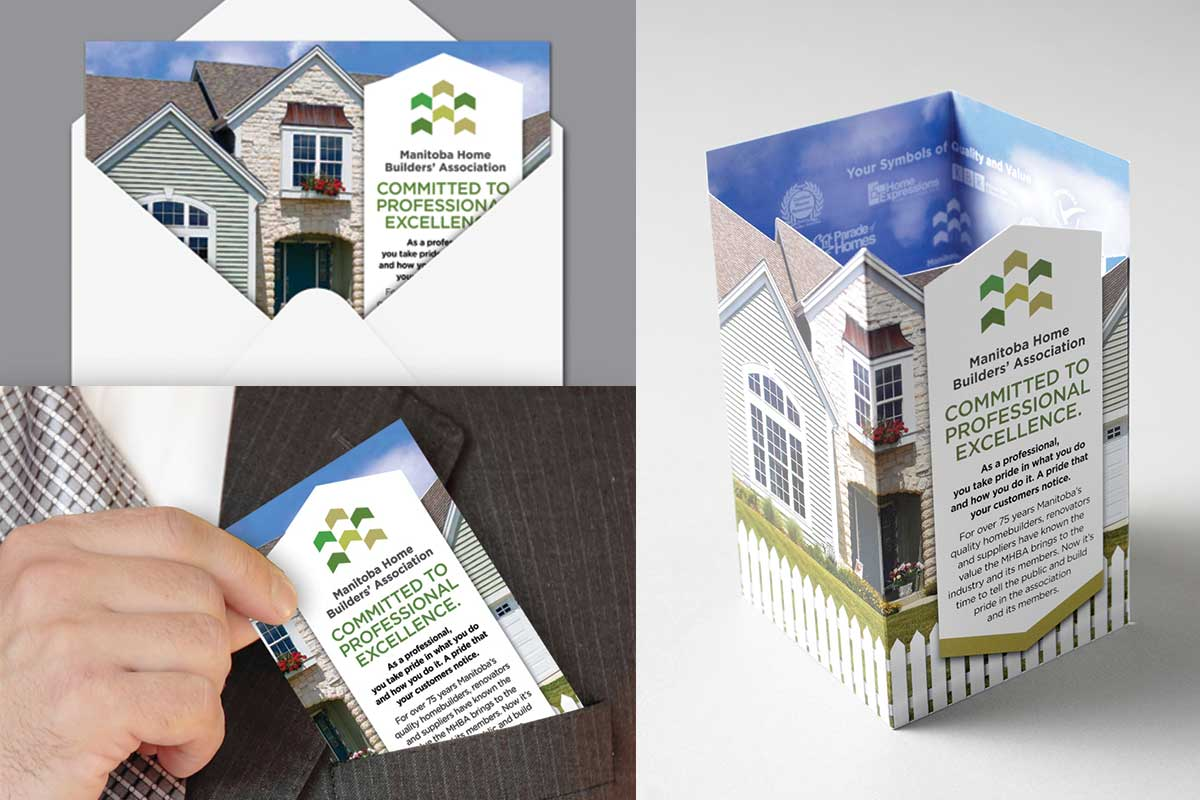 Direct mail designed by 6P Marketing for Manitoba Home Builders Association