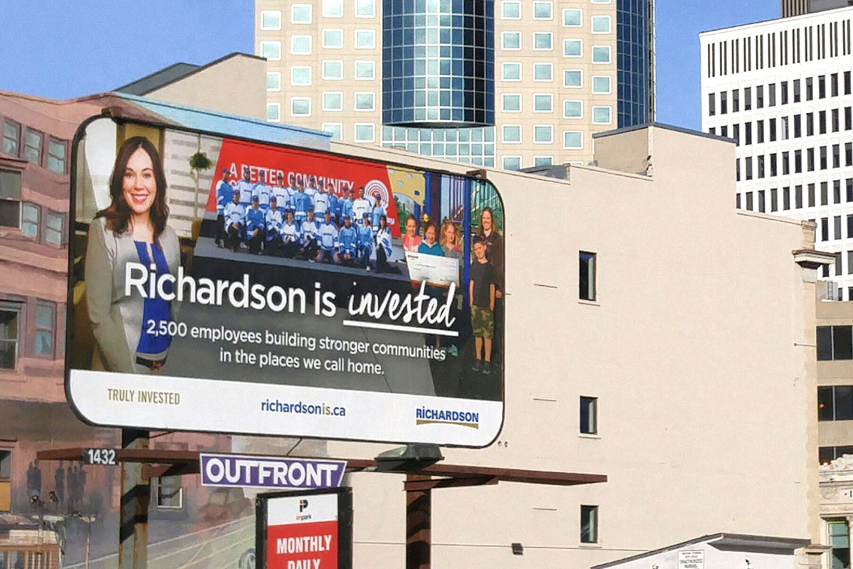 Billboards designed by 6P Marketing for Richardson International