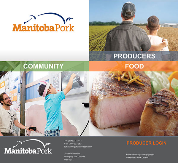 Manitoba Pork website designed by 6P Marketing
