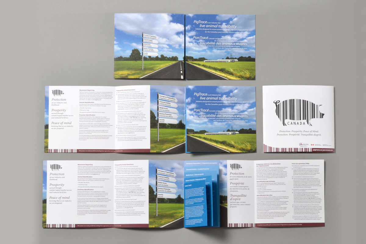 Brochure designed by 6P Marketing for PigTrace