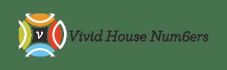 Vivid House Numbers
