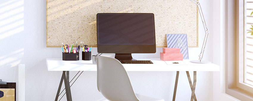 6P Marketing March 2020 Blog Banner   Black computer on a desk