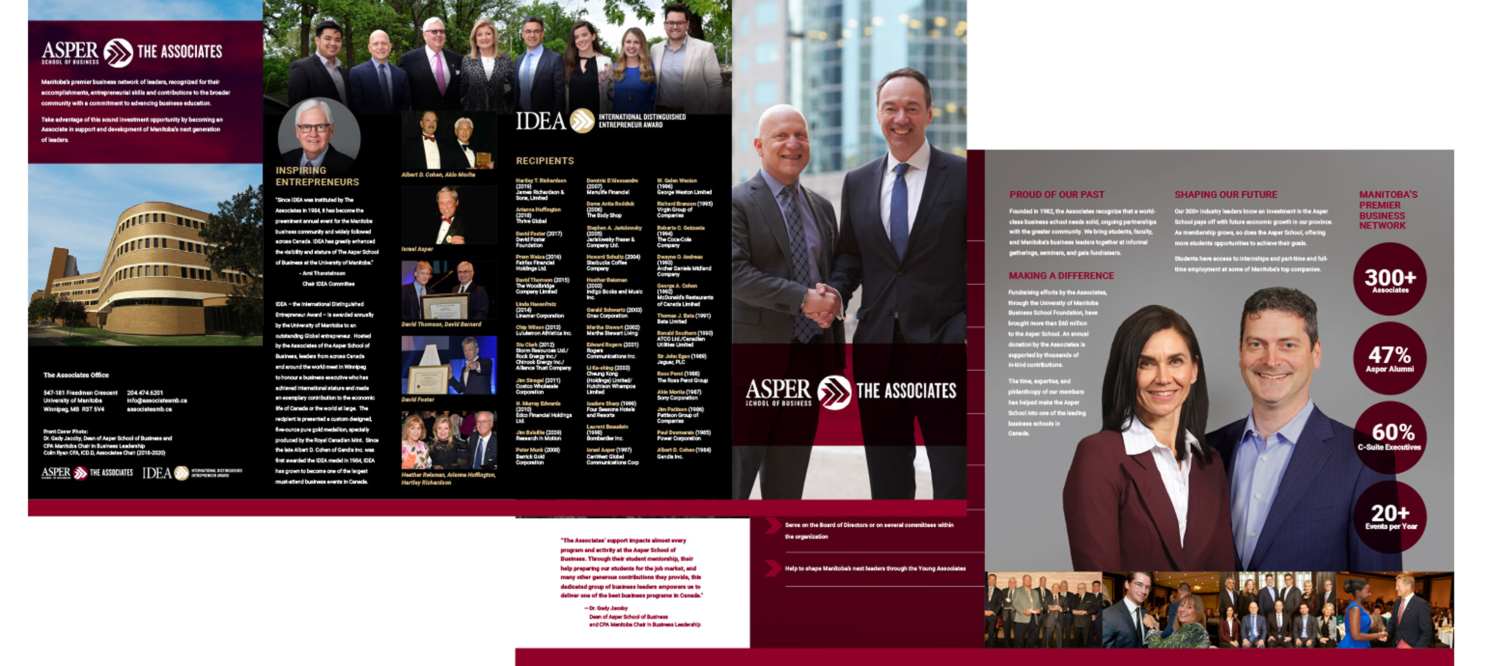 The Young Associates marketing materials designed by 6P Marketing