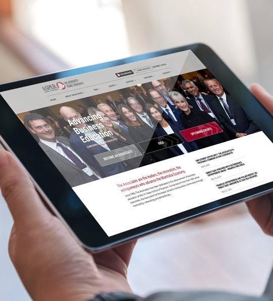Brand evolution and blended website platform for The Associates and Young Associates designed by 6P Marketing
