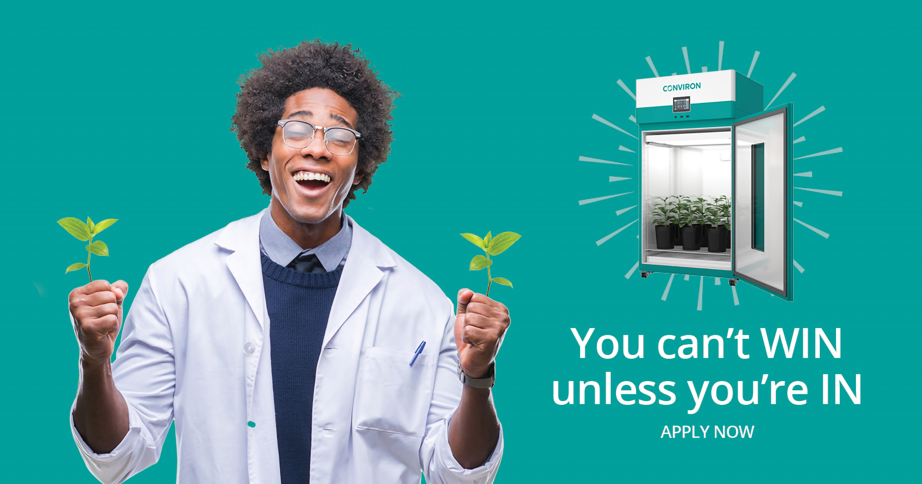 Conviron plant-growth chamber Facebook campaign designed by 6P Marketing