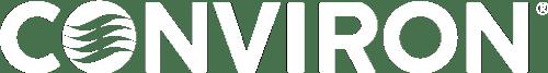 Conviron white logo
