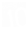 Number TEN logo in white