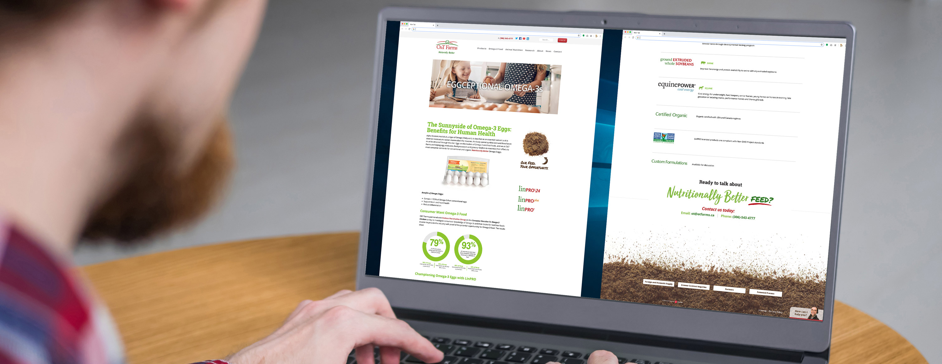 A new website designed by 6P Marketing helps O&T Farms implement targeted marketing tactics and track KPIs
