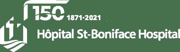 St. Boniface Hospital white logo